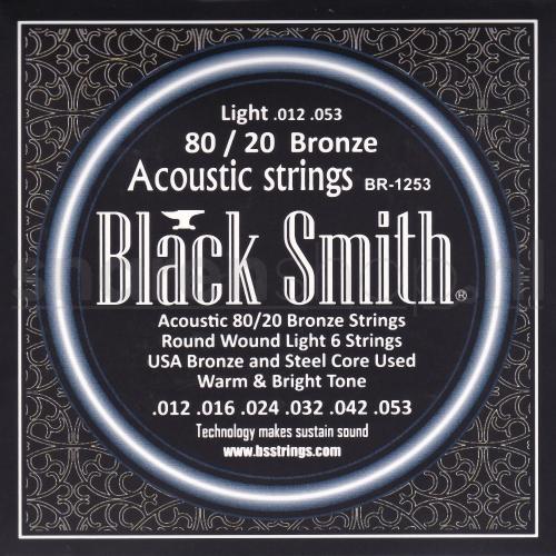 Blacksmith snaren voor akoestische gitaar. Bronze wound, dikte .012-054 (Light)