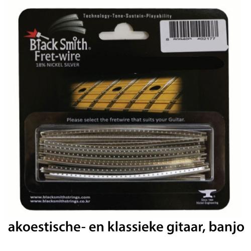 BlackSmith DHP-2000 Fretdraad Narrow/Flat Akoestische- en Klassieke Gitaar en Banjo (Set 24 stuks)