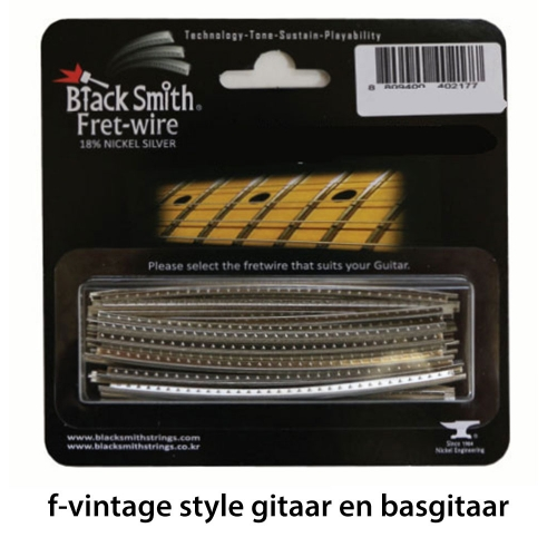 BlackSmith DHP-21F1 Fretdraad Narrow/Vintage Gitaar en Basgitaar (Set 24 stuks)
