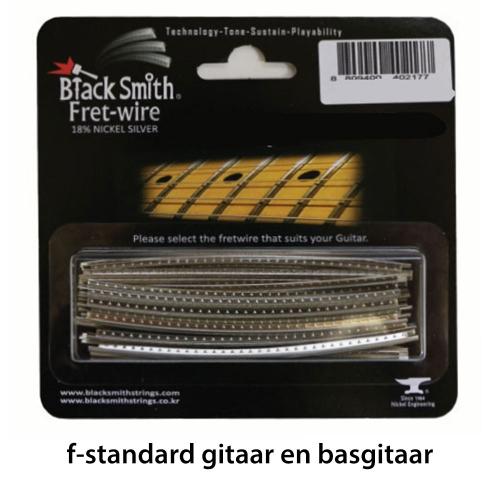 BlackSmith DHP-26F2 Fretdraad Medium/Standard F-Standaard Gitaar en Basgitaar (Set 24 stuks)