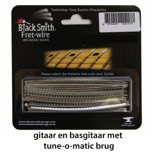 BlackSmith DHP-27C3 Fretdraad Medium/Jumbo Tune-o-Matic Gitaar en Basgitaar (Set 24 stuks)