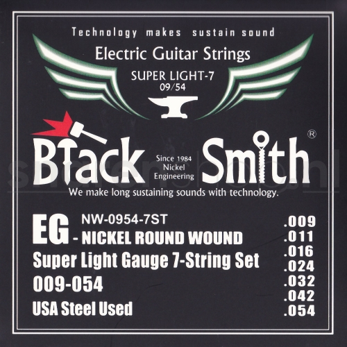 BlackSmith NW-0954 Elektrische Gitaarsnaren (7-Snarig) (9-54)