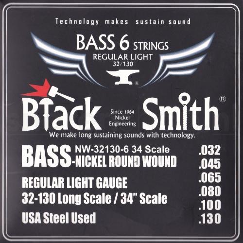BlackSmith NW32130 Nickel Round Wound Bassnaren (32-130)