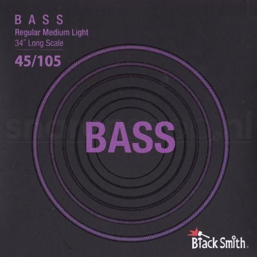 BlackSmith NW45105 Nickel Round Wound Bassnaren (45-105)