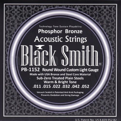 Blacksmith PB1152 akoestiosche gitaarsnaren, light, .011 -.052