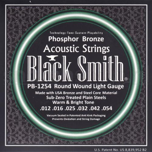 Blacksmith PB1254 gitaarsnaren akoestische gitaar, light, phosphor brons