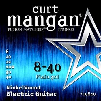 Curt Mangan 10840 Nickelwound Snaren voor Elektrische Gitaar (8-40)