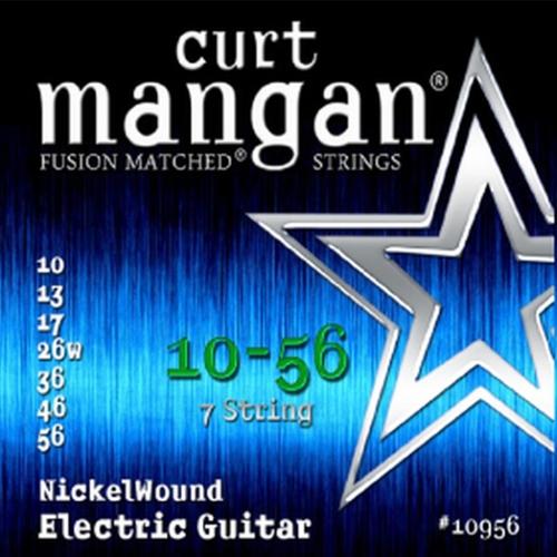 Curt Mangan 11056 Nickelwound Elektrische Gitaarsnaren 7-Snarig (10-56)