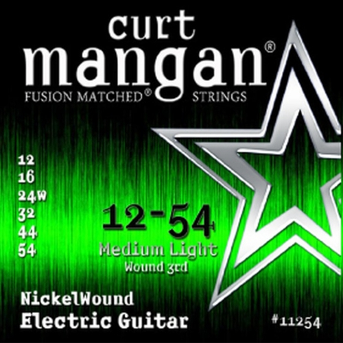 Curt Mangan 11254 Nickelwound Elektrische Gitaarsnaren (Omwonden G-Snaar)