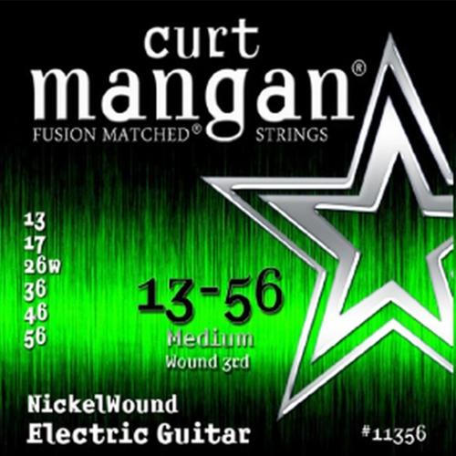 Curt Mangan 11356 Nickelwound Elektrische Gitaarsnaren (Omwonden G-Snaar) (13-56)