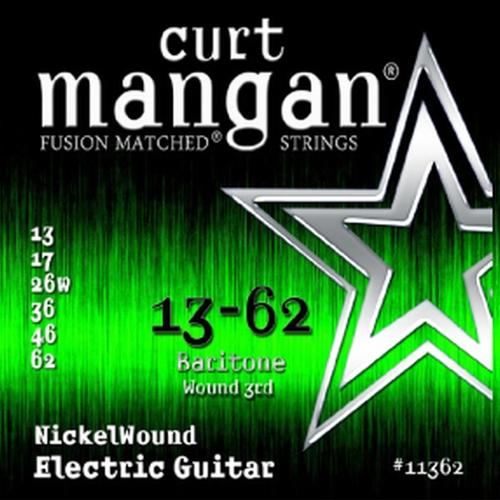 Curt Mangan 11362 Nickelwound Gitaarsnaren voor Baritone Gitaar (13-62)
