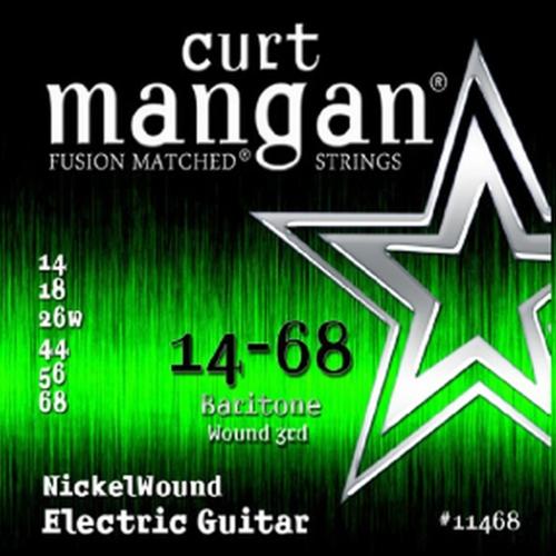 Curt Mangan 11468 Nickelwound Gitaarsnaren voor Baritone Gitaar (14-68)