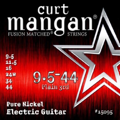 Curt Mangan 15095 Pure Nickel Snaren voor Elektrische Gitaar (9.5-44)