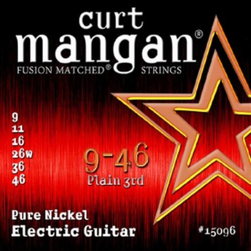 Curt Mangan 15096 Pure Nickel Snaren voor Elektrische Gitaar (9-46)