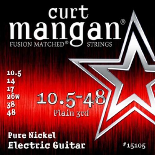 Curt Mangan 15105 Pure Nickel Elektrische Gitaarsnaren (10.5-48)