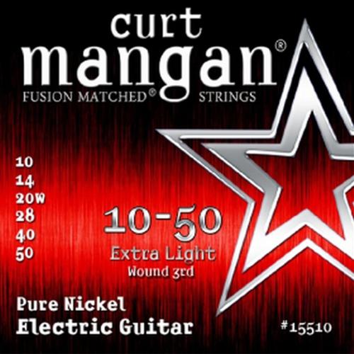 Curt Mangan 15510 Pure Nickel Elektrische Gitaarsnaren (Omwonden G-Snaar) (10-50)