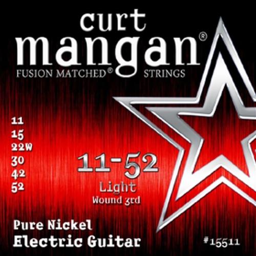 Curt Mangan 15511 Pure Nickel Elektrische Gitaarsnaren (Omwonden G-Snaar) (11-52)