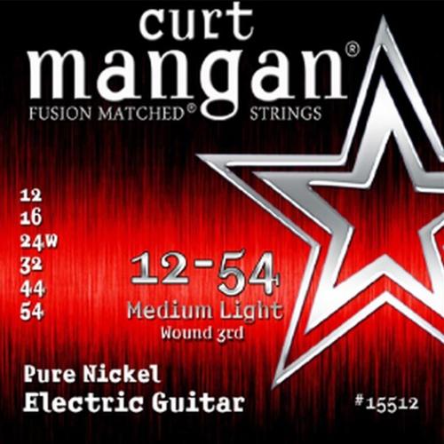 Curt Mangan 15512 Pure Nickel Elektrische Gitaarsnaren (Omwonden G-Snaar) (12-54)