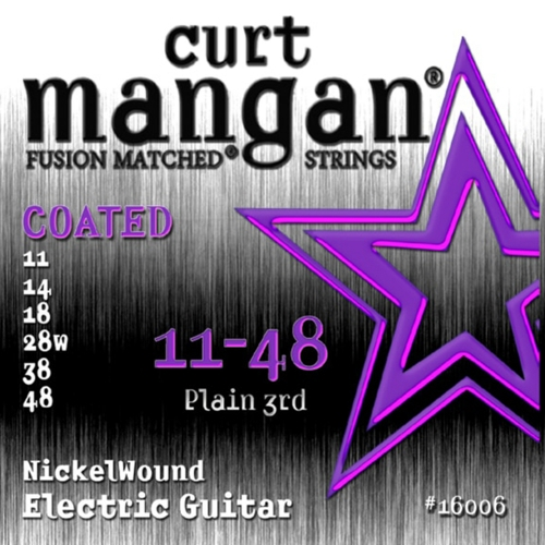 Curt Mangan 16006 Elektrische Gitaarsnaren Coated (11-48)