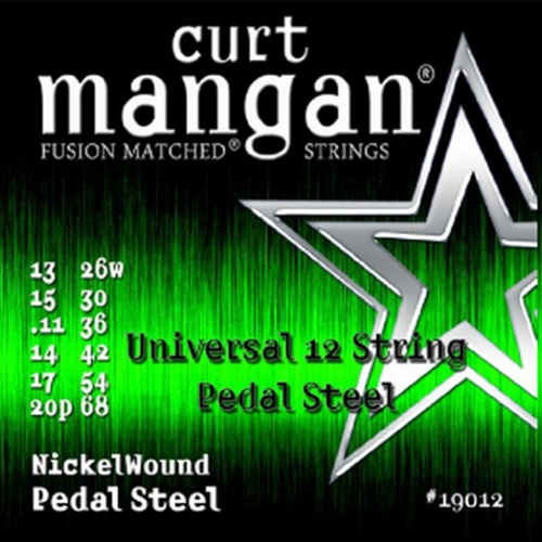 Curt Mangan 19012 Universele Pedal Steel Snaren 12-Snarig (13-68)