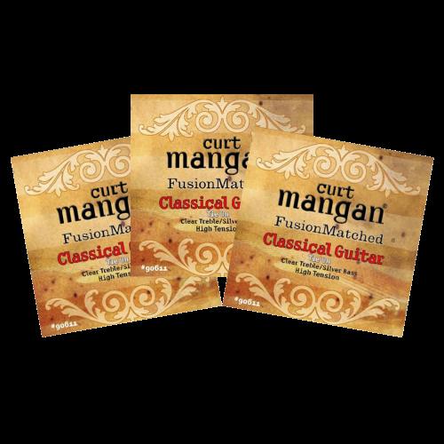 Curt Mangan 90611 Snaren voor Klassieke Gitaar - Hoge Spanning 3-Pack