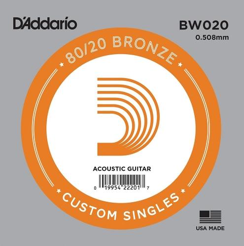 D'Addario BW020 bronzen snaar voor akoestische gitaar