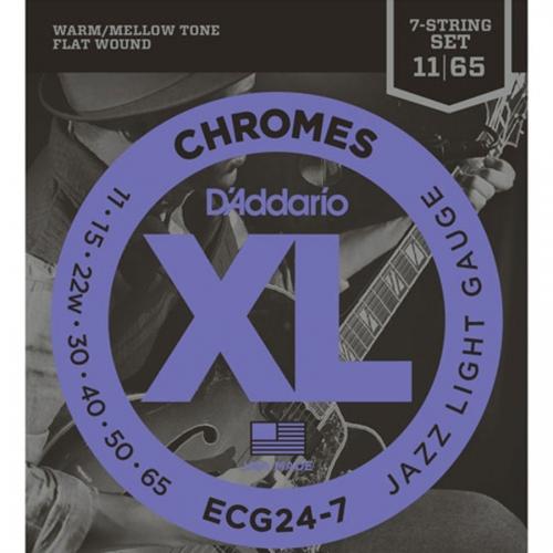 D'Addario ECG24-7 Chromes Snaren voor 7-Snarige Elektrische Gitaar (11-65)