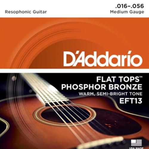 D'Addario EFT13 Flat Top Dobro/Resonator Gitaar snaren (16-56)