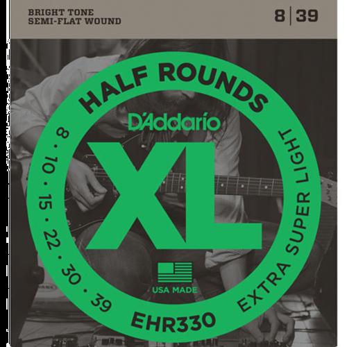 D'Addario EHR330 Half Round Snaren voor Elektrische Gitaar (8-39)