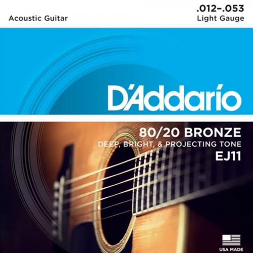D'Addario EJ11 Bronze Westernsnaren (12-53)