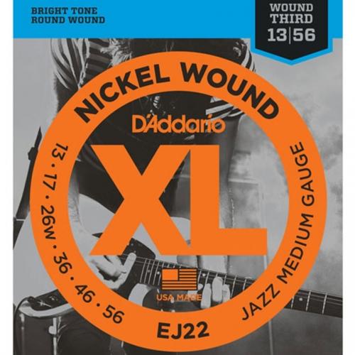D'Addario EJ22 Nickel Wound Jazz Snaren voor Elektrische Gitaar (13-56)