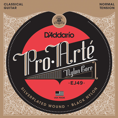 D'Addario EJ49 Black Nylon Klassieke Gitaarsnaren - Normale Spanning