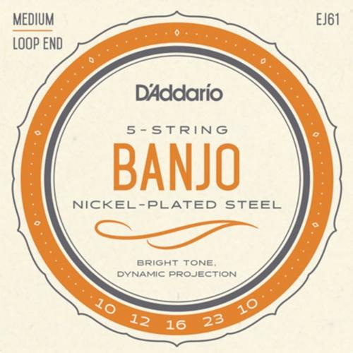 D'Addario EJ61 Banjo Snaren voor 5-Snarige Banjo (10-23)