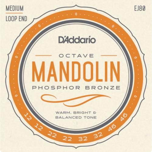 D'Addario EJ80 Octaaf Mandoline Snaren (12-46)