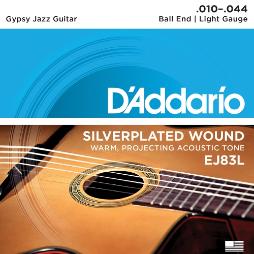 D'Addario EJ83L Gypsy Jazz Gitaarsnaren - Light (10-44)