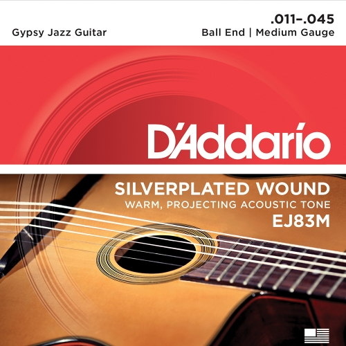 D'Addario EJ83M Gypsy Jazz Gitaarsnaren - Medium (11-45)