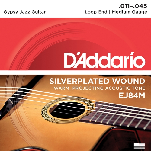 D'Addario EJ84M Gypsy Jazz Snaren - Medium (11-45)