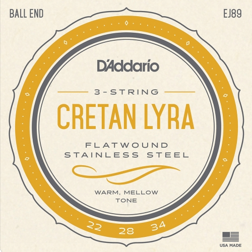 D'Addario EJ89 Snarenset voor Kretenzische Lyra (22-34)