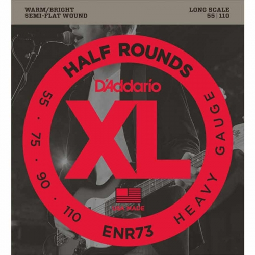 D'Addario ENR73 Bassnaren 1/2 Rounds (55-110) Long Scale