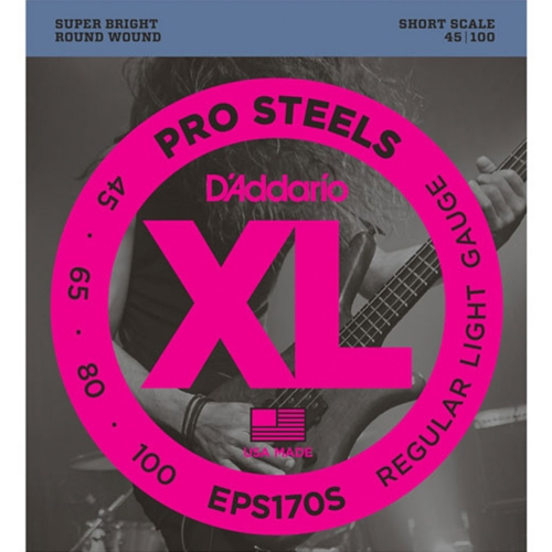 D'Addario EPS170S Short Scale Bassnaren (45-100)
