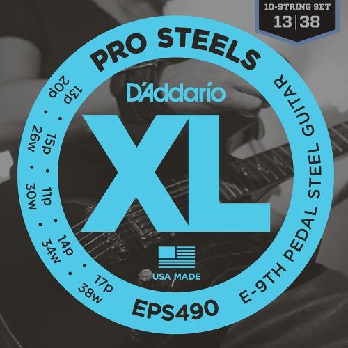 D'Addario EPS490 Pedal Steel Snaren E-9th (13-38)