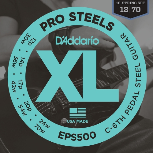 D'Addario EPS500 ProSteels Pedal Steel Snaren C-6th