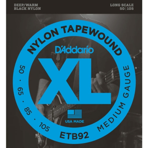 D'Addario ETB92 Nylon Tapewound Bassnaren (50-105)