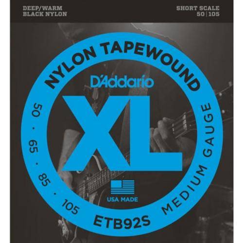 D'Addario ETB92S Tapewound Shortscale Bassnaren (50-105)