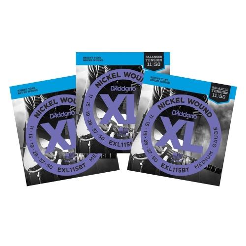 D'Addario EXL115BT Snaren voor Elektrische Gitaar (11-50) 3-Pack