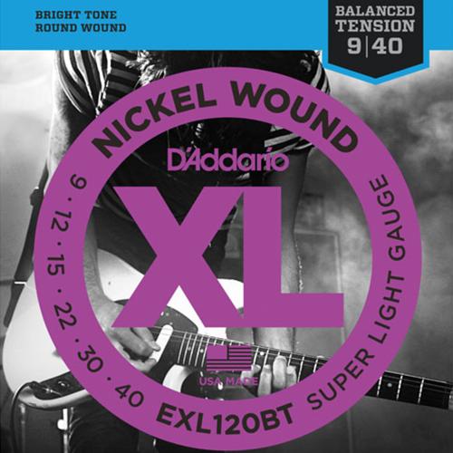 D'Addario EXL120BT Round Wound Snaren voor 6-Snarige Elektrische Gitaar (9-40)