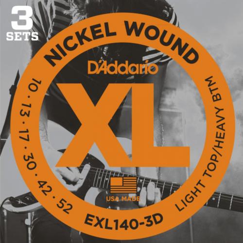D'Addario EXL140 Snaren voor Elektrische Gitaar (10-52) 3-Pack