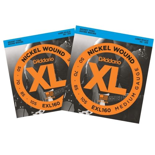 D'Addario EXL160 Bassnaren Long Scale (50-105) 2-Pack