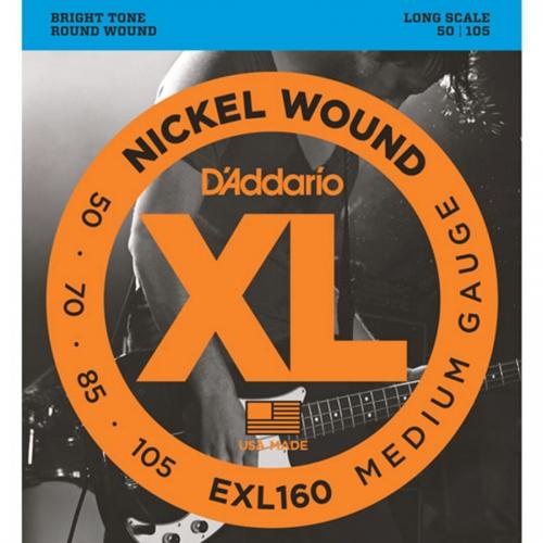 D'Addario EXL160 Bassnaren Long Scale (50-105)