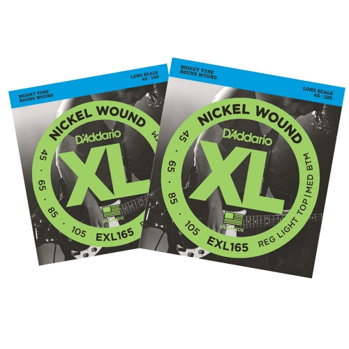 D'Addario EXL165 Bassnaren Long Scale (45-105) 2-Pack